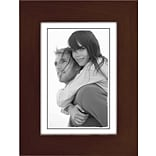 Malden Classic Linear Wood Picture Frame, Espresso Walnut, 3.5 x 5