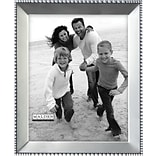 Malden Beaded Metal Picture Frame, Satin Nickel, 8 x 10