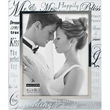 Malden Mr. and Mrs. Wedding Metallic Glass Picture Frame, 8 x 10