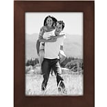 Malden Classic Linear Wood Picture Frame, Dark Walnut, 5 x 7