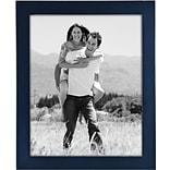 Malden Classic Linear Wood Picture Frame, Blue, 8 x 10