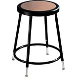 National Public Seating 32 Round Stool With Backrest, Black, Seat: 14 W x 14D, Back: 6H x 12W