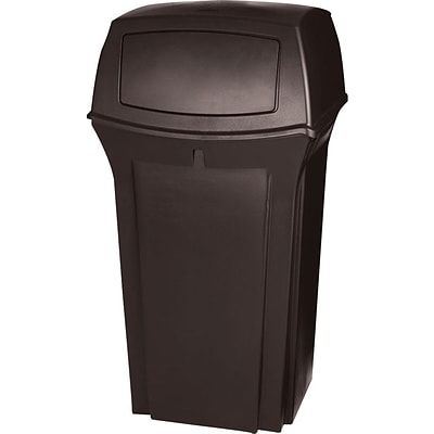 Rubbermaid® Range Containers, Brown, 35 Gallon