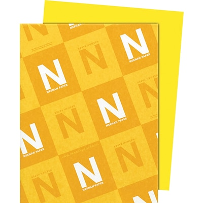 Wausau Astrobrights Colored Paper, Letter, Sunburst Yellow, 500/Ream