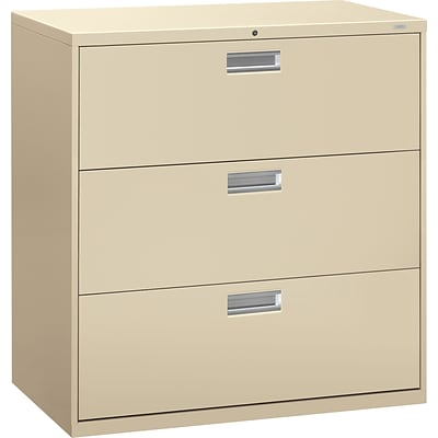 HON® Brigade® 600 Series Lateral Files; 3-Drawer, 42 Wide, Putty