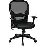Office Star® SPACE® Seating Professional Breathable Back Leather & Mesh Chair