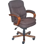 La-Z-Boy Faye Fabric Manager Chair, Chocolate, Seat Dimensions: 20.5 - 24.25H x 20.75W x 19.5D