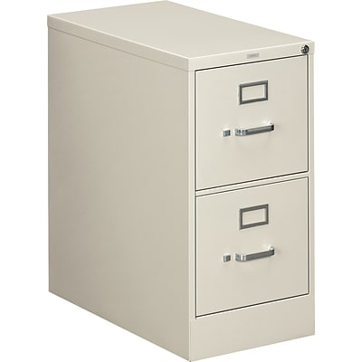HON® 310 Series Letter Width Vertical File Cabinets, 2-Drawer, Light Gray, 26.5D