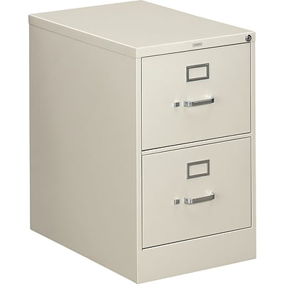 HON® 310 Series Legal Width Vertical File Cabinets, 2-Drawer, Light Gray, 26.5D