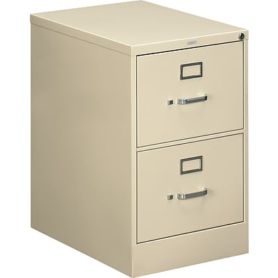 HON® 510 Series 25D Vertical Files; 2-Drawer, Legal Size, Putty