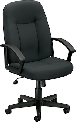 """Basyx By Hon(r) Hvl601 High Back Task Chair, Fabric, Charcoal, Seat: 20 1/2""""w X 17""""d, Back: 20 1/2""""w X 26 1/2"""" 26 1/2""""h"""