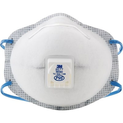 3M™ Disposable Particulate Respirator; 8576, P95, Oil Proof, Fixed Strap