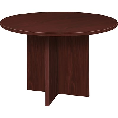 basyx by HON BL Laminate 29 1/2H x 48(Dia) Round Conference Table, Mahogany NEXT2017 NEXT2Day