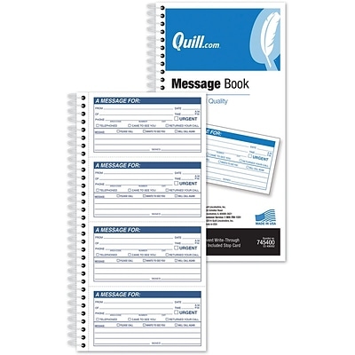 Quill Brand® Message Book; 4 Messages/Page; 400/Book
