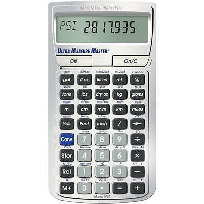 Calculated Industries Ultra Measure Master 8025 Conversion Calculator