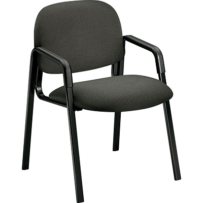 HON Solutions Seating 4000 Series Leg Base Guest Chairs; Olefin Fabric; Grey