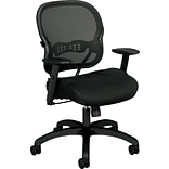 basyx by HON® VL712 Mid-Back Task Chair, Mesh, Black, Seat: 19 3/4W x 18 1/2D, Back: 20 1/2W x 20