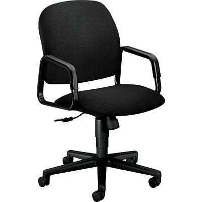 HON Solutions - 4000 Series Executive/Office Chair, Fabric, Black, Seat: 20W x 17 3/4D, Back: 20 1/2W x 23 1/4H