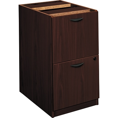 Hon® basyx® BL Collection 2-Drawer Mobile Pedestal File Cabinet; Mahogany, Lttr/Legal (BSXBL2163NN)