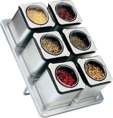 Stainless Steel Magnetic Spice Rack with 6
