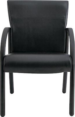 La Z Boy(r) Contract Gratzi Reception Series Guest Chair, Vinyl, Black, Each (lf14a,hudblk)