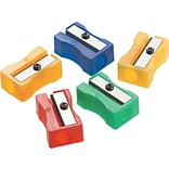 One-Hole Manual Pencil Sharpeners, 4w x 2d x 1h, Red/blue/green/yellow, 24/Pk (15993)