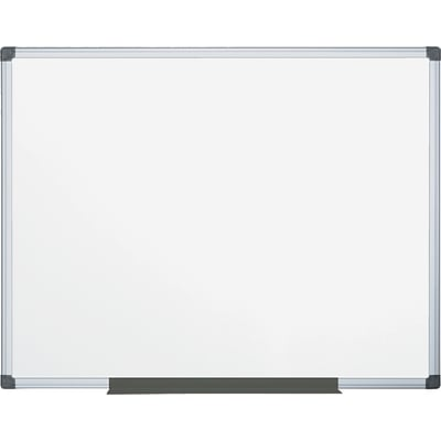 MasterVision  Value Lacquered Steel Magnetic Dry Erase Board, White, 48 X 72 X 3/4 (MA2707170)