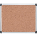 MasterVision® Value Cork Bulletin Board with Aluminum Frame, 24 x 36Silver (CA031170)