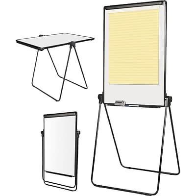 MasterVision® Folds-to-a-Table Melamine Easel, Black, 28 1/2 x 37 1/2 (EA14000583MV)