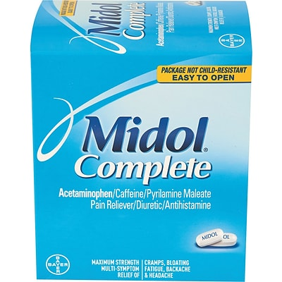 Midol® Complete Pain Relief Tablets, 2 Tablets/Packet, 30 Packets/Box (PFYBXMD30)