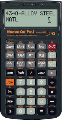 Calculated Industires MachinistCalc Pro 2 Calculator