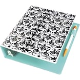 Avery Mini Durable Style Binder with 1 Round Rings, Chandelier Damask, 5-1/2 x 8-1/2 (18445)