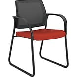 HON Ignition Cafe-Height Stool, Fixed Arms, Black Mesh Back, Black Frame, Poppy Fabric