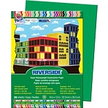 Pacon Riverside Paper Construction Paper 9 x 12, Holiday Green, 50 Sheets (103577 )