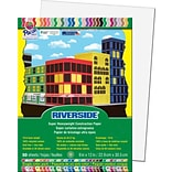 Riverside® Construction Paper, 9 x 12, White, 50 Sheets
