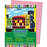 Pacon® Riverside® Groundwood Construction Paper, Pink, 12(H) x 9(W), 50 Sheets (03591)