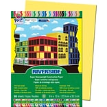 Pacon Riverside Construction Paper 12 x 9, Yellow, 50 Sheets (PAC103592)