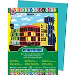 Pacon Riverside Construction Paper 12 x 9, Blue/Green, 50 Sheets (103602)