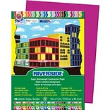 Riverside® Construction Paper, Magenta, 9 x 12, 50 Sheets