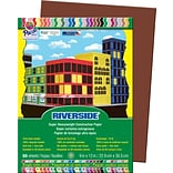 Pacon Riverside Construction Paper 12 x 9, Dark Brown, 50 Sheets (103606)