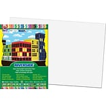 Pacon® Riverside® Groundwood Construction Paper, White, 18(H) x 12(W), 50 Sheets (03613)