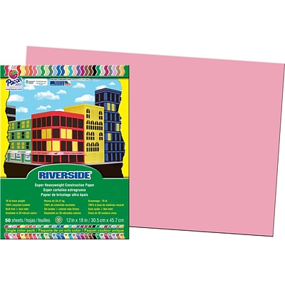 Pacon Construction Paper 12 x 18, Pink, 50 Sheets
