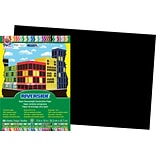 Pacon® Riverside® Groundwood Construction Paper, Black, 18(H) x 12(W), 50 Sheets (RIV03631)