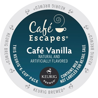 Cafe Escapes® K-Cup® Pods, Cafe Vanilla, 24/Box