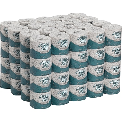Angel Soft Professional Series™ 2-Ply Premium Embossed Bathroom Tissue, White, 450 Sheets/Roll, 80 Rolls/Case, (16880)