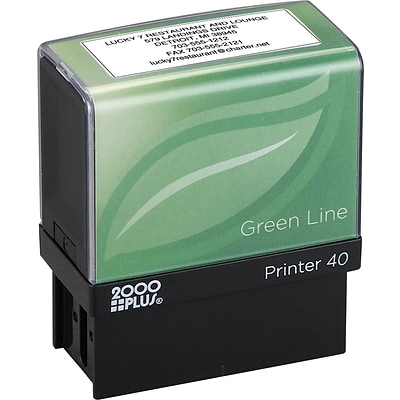 2000 Plus® Greenline Self-Inking Stamp; 7/8x2-5/16, Up to 6 Lines