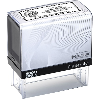 2000 Plus® Self-Inking Notary Stamp; 15/16x2-3/8, Up to 6 Lines