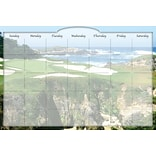 Biggies- Dry Erase Stickie Monthly Calendar, Golf Ocean, 48