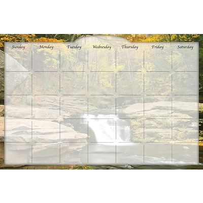 Biggies River Falls, 48 x 32, Film Dry Erase Stickie Monthly Calendar (DC-RRF-48)