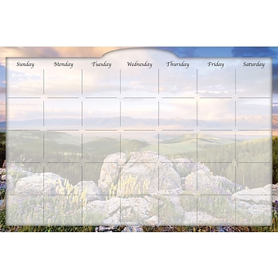 Biggies Sunrise Valley, 48 x 32, Film Dry Erase Stickie Monthly Calendar (DC-SEV-48)